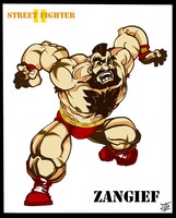 Zangief - SSF II - speed sketch color (5 of 6) by Cilab