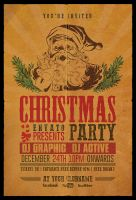 Christmas Party Flyer Retro by Dilanr