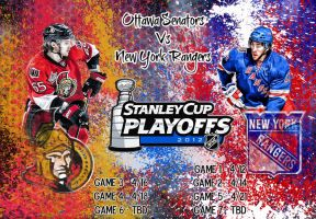 Ottawa Senators - New York Rangers by Sammzor