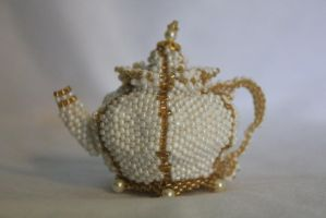 Teapot of Pearls and Gold by Thy-Darkest-Hour