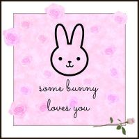 Some bunny loves you...the cuter version by sonic-fire