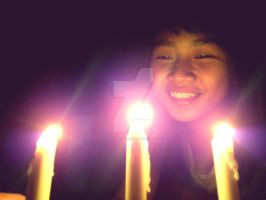 Three Candles For My Precious Things by okinawarikenata