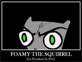 Foamy The Squirrel by sweepeezee