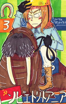SovLiet riding a walrus by WisteriaPeacock