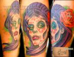 Dia De Los Muertos Cover up by SpikeJones67