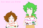 THANK YOU by artist-black