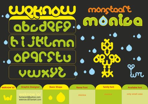 monica_font_byweknow by weknow