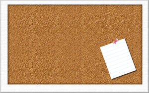 Corkboard with Note by speakingsoul