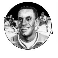 Hockey great Willie O'Ree by Paluso4art