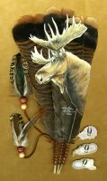 Bull Moose Feather by dittin03