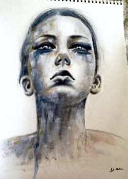 oil over charcoal portrait by JessicaJMiller