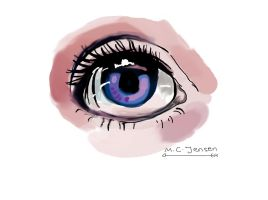 Purple Eye by YoungNightingale