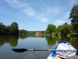 Scey s Saone from kayak by ancoben