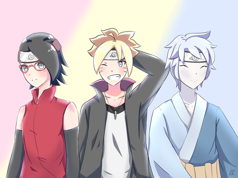Team Konohamaru - Boruto: Naruto Next Generations by RinnieRin