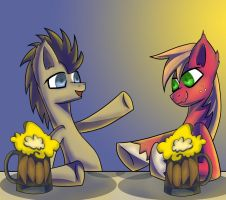 Let's Drink With Dr. Whooves and Big MacIntosh by MaNdAmZz