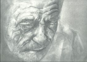Old man on wall Scan by johnchi