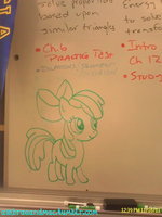 Whiteboard Apple Bloom by DrumblastingQuilava