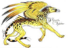 Rhynith Nightstar Gryphon by moonfeather