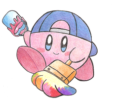 Kirby painting by Pericote