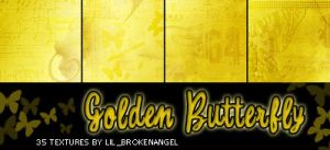 Textures - Golden Butterfly by lilbrokenangel