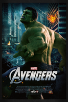 The Avengers: Hulk   Theatrical Poster by Squiddytron