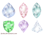 Colored diamonds of different shapes by Lyotta