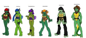 TMNT gender swap... by Lily-pily