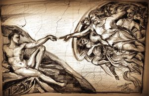 Creation of Adam by TamiTw