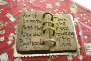 Book Of Mormon Cake by redhed66