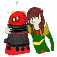 Dalek and Ari doodle by Novern