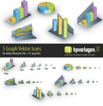 5 Graph Icons by hpv24sabine