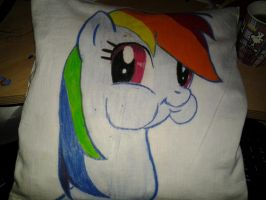 Rainbow Dash Pillow by Senaris
