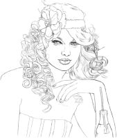 Taylor Swift Sketch by CallieFink