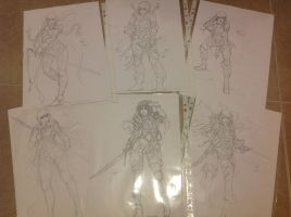 2013 character design sketches by Auzzymo