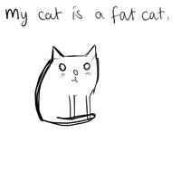 My Cat is a Fat Cat by nikkittie
