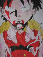 One Piece: Luffy (Gear Second) by TheGaboefects