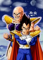 Vegeta and Nappa col by BK-81