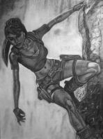 Tomb Raider Legend Charcoal by IsaacCabrera