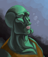 Handsome Squidward by legathin