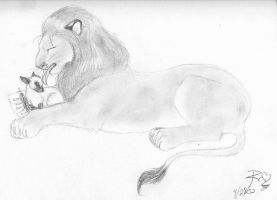 Lion and Lamb by evolra