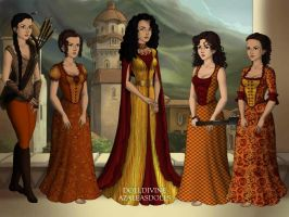 Ellaria and the Sandsnakes by ZoombieGrrll