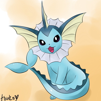 Vaporeon by Whimsical-Cotton
