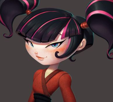 One face a day 208/365.  kimiko (Xiaolin Showdown) by Dylean