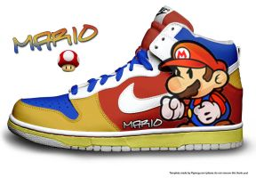 Nike Dunks - Mario by xOCT4N3