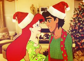 Christmas with Ariel and Aladdin by gating