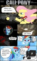 Call of Pony: Fluttershy vs Rainbow Dash by AngeOMGWTFBBQ