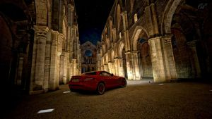 Mercedes Benz SLR Mclaren at San Galgano Abby GT5 by whendt