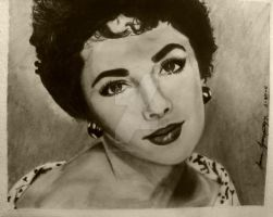 Liz Taylor Portrait by blacknimproud