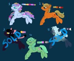 Discounted Halloween Pony Adoptables by PetiteLaSouris