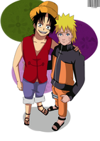 Luffy and Naruto Friends by Sarah927